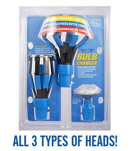 Ettore Light Bulb Changer Kit 5 Piece Set Changing Fluorescent Standard Recessed