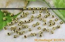 500pcs Antiqued gold tiny barrel spacer bead FC5038