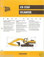 Equipment Brochure - JCB - JS260 - Excavator - 1999 (EB394)