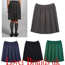 Women Girls Kids School Uniform All Around Elastic Pleated Skirt 2 Year to UK 18