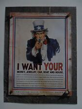 2002 Print Ad ACLU American Civil Liberties Union ~ Uncle Sam Wants Everything