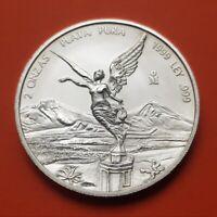 @RARE@ MEXICO 2 ONZAS 1999 LIBERTAD UNC PURE SILVER COIN Oz Troy Ounce Mejico