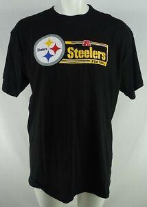 Pittsburgh Steelers NFL Team Apparel Men's Black Crew Neck T-Shirt