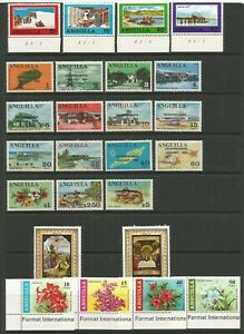 Anguilla 1969 Full Year Sets SG 49 / 71 Mounted Mint