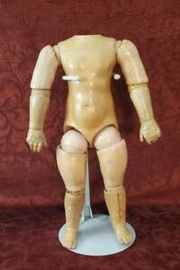 """Antique German Straight Wrist 11"""" Eight Ball Jointed Doll Body for Bisque Head"""