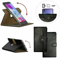 360 ° Rotate Premium Leather Mobile Phone Wallet Case For BLU Tank Xtreme -L
