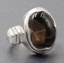 Lovely 925 Sterling Silver & Smokey Quartz Ring Ladies/Men