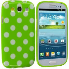 Samsung Galaxy S3 Polka Dot Case / Cover - Green