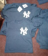 NEW YORK YANKEES BLANK YOUTH MAJESTIC T-SHIRT TEAM JERSEY NAVY NEW