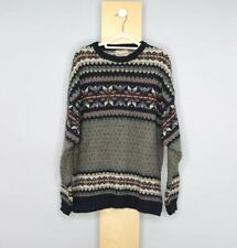 Woolrich Wool Sweater Mens XL Fair isle Heavy Multicolor