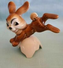 Vintage Goebel Bunny Rabbit Jumping Cracked Egg Shell West Germany Brown Rabbit