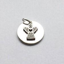 Schutz Engel Anhänger Platte mit Name Datum Gravur und Kette Echt Silber 925 Neu