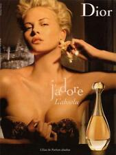 AFFICHE DIOR J'ADORE CHARLIZE THERON 4x6 ft Bus Shelter Original Vintage Poster