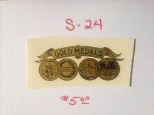 "GOLD MEDALS ANTIQUE SCALE & COIN MACHINE DECAL  #S-24 SMALL 3 1/4"" GOLD MEDALS"