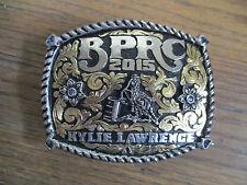 2015 BPRC Barrel Racing western rodeo championship belt buckle