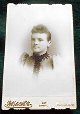 American  C. 1890s  Cabinet Card  Lady  ~ McMillen in Riverside, CA