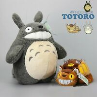 Studio Ghibli My Neighbor Totoro Cat Bus & Grin Totoro Plush Doll Toy 15'' Gift