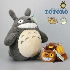 Studio Ghibli My Neighbor Totoro Cat Bus & Grin Totoro Plush Doll Toy 15'' Gift
