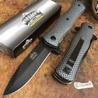 MASTER USA Carbon Fiber Tactical Hunting Rescue Pocket Folding Knife MU-A006CF