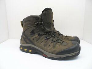 Salomon Men's QUEST 4D 3 GTX Hiking Trail Boots Wren/Cored/Green Sulphur 12.5M