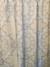 "Cynthia Rowley shower curtain gray white yellow 72"" x 72"" heavy fabric pretty"