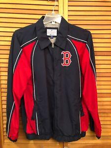 G-III BOSTON Red Sox Fleece Lined Jacket Medium Full Zipper