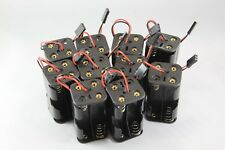 10pcs RC 4xAA Battery Holder Futaba Plug For Receiver Cars Heli Planes Boats