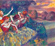 Four Dancers A1+ by Edgar Degas High Quality Canvas Print