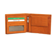 Genuine Leather Money Wallet Purse for Men Gents with Card Slots- Brown