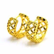 Huggie Hoop Charm Gf Wedding Jewelry Women 24k Yellow Gold Filled Earrings 18Mm