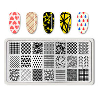 BORN PRETTY Heart  Grids Nail Art Stamping Template Image Plate BP-L013