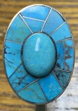 Jay King DRT Sterling Silver Turquoise Ring Size 6, 13.70 Grams