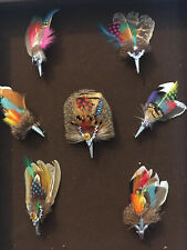 Lot De 7 BROCHE, EPINGLE A KILT PLUME Matiere Animal Metal Année 70 Curiosité