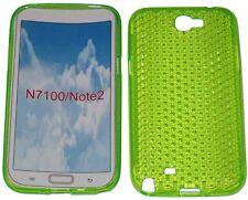 Custodia in gel Pattern protettore per Samsung Galaxy 2 GT Note N7100 N7105 Verde