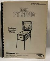 Black Pyramid Parts And Operating Manual Bally Midway