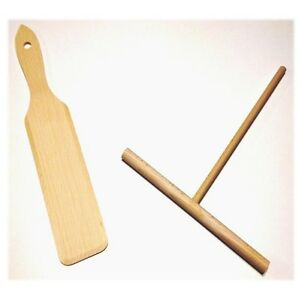 2 tlg. Set Crepes Verteiler und Wender Holz Buche roh