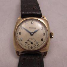 Vintage Estilo Militar para Hombre 9 CT Oro Entubado Cojín en Forma de Bernex NO.3 Reloj 1943