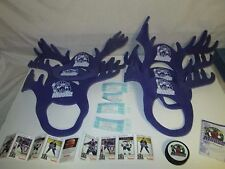 Lot of IHL Minnesota Moose Ice Hockey Items Foam Antlers Cards Ticket Stubs Puck