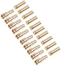 10 Pairs 20 Pcs 3.5mm Gold-plated Bullet Banana Plug Connector fr RC Battery ESC