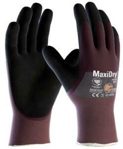 MaxiDry 3/4 Coated 56-425 Nitrile Foam Palm Waterproof Dexterity Work Gloves