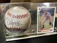 Chuck Knoblauch Signed  American League Baseball + Card in holder