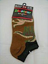 Dinosaur Ankle Socks Brown Stegosaurus Allosaurus Boy's Sizes 6 To 8 1/2