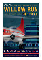 "JA046 WILLOW RUN AIRPORT POSTER ART PRINT 14"" X 20"" BY ARTIST CHRIS BIDLACK"