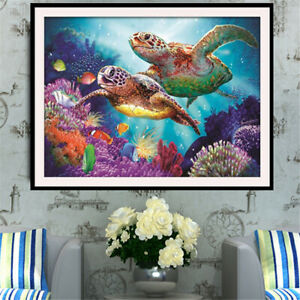 Full Drill 5D Diamond Painting Sea Turtle Cross Stitch Kits Home Art Home Decor