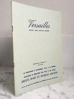 Catalogue de vente Versailles Objets d'art et meubles anciens  5 Novembre 1972