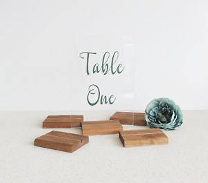Acrylic sign holders, acrylic holder, table name holders, wooden wedding decor,