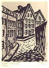 Lübeck  Im Kolk -  original Holzschnitt - Franz Grickschat Nr 531 signiert