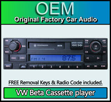 VW Lupo Beta Cassette player, Volkswagen 6X0035152C car stereo + radio code
