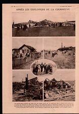 WWI Explosion Dépôt de Grenades La Courneuve/Camouflages Camos 1918 ILLUSTRATION