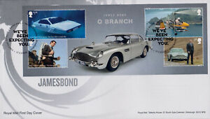 GREAT BRITAIN - 2020 JAMES BOND CAR / Q BRANCH - MS FDC